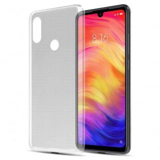 Cadorabo Hülle für Xiaomi RedMi NOTE 7 in VOLL TRANSPARENT Handyhülle aus flexiblem TPU Silikon Silikonhülle Schutzhülle Ultra Slim Soft Back Cover Case Bumper