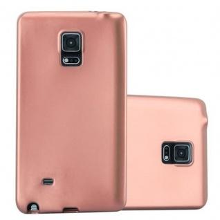 Cadorabo Hülle für Samsung Galaxy NOTE EDGE in METALLIC ROSE GOLD Handyhülle aus flexiblem TPU Silikon Silikonhülle Schutzhülle Ultra Slim Soft Back Cover Case Bumper
