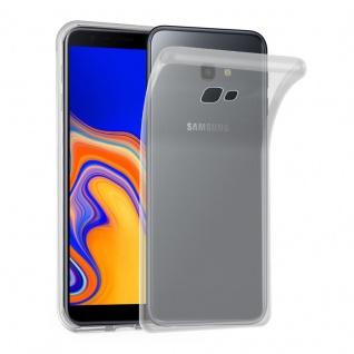 Cadorabo Hülle für Samsung Galaxy J4 PLUS in SCHWARZ - Handyhülle aus flexiblem TPU Silikon - Silikonhülle Schutzhülle Ultra Slim Soft Back Cover Case Bumper