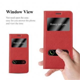Cadorabo Hülle für Samsung Galaxy S7 EDGE in SAFRAN ROT ? Handyhülle mit Magnetverschluss, Standfunktion und 2 Sichtfenstern ? Case Cover Schutzhülle Etui Tasche Book Klapp Style - Vorschau 2