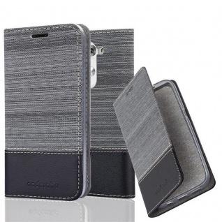 Cadorabo Hülle für LG G3 MINI / G3S in GRAU SCHWARZ - Handyhülle mit Magnetverschluss, Standfunktion und Kartenfach - Case Cover Schutzhülle Etui Tasche Book Klapp Style