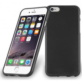 Cadorabo Hülle für Apple iPhone 6 PLUS / iPhone 6S PLUS in SCHWARZ Handyhülle aus flexiblem TPU Silikon Silikonhülle Schutzhülle Ultra Slim Soft Back Cover Case Bumper