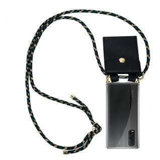 Cadorabo Handy Kette für Oppo Find X2 in CAMOUFLAGE Silikon Necklace Umhänge Hülle mit Gold Ringen, Kordel Band Schnur und abnehmbarem Etui Schutzhülle