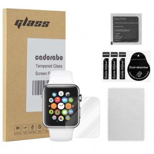 Cadorabo Panzer Folie für Apple Watch Series 1 & 2 42mm - Schutzfolie in KRISTALL KLAR - Gehärtetes (Tempered) Display-Schutzglas in 9H Härte mit 3D Touch Kompatibilität