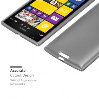 Cadorabo Hülle für Nokia Lumia 1520 in METALLIC GRAU - Handyhülle aus flexiblem TPU Silikon - Silikonhülle Schutzhülle Ultra Slim Soft Back Cover Case Bumper - Vorschau 5