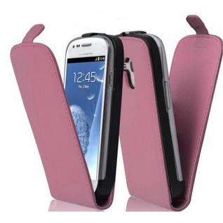 Cadorabo Hülle für Samsung Galaxy S3 MINI - Hülle in ALT ROSA ? Handyhülle aus glattem Kunstleder im Flip Design - Case Cover Schutzhülle Etui Tasche