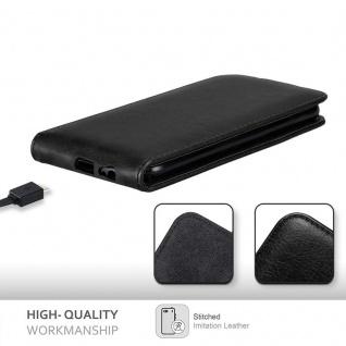 Cadorabo Hülle für Samsung Galaxy A6 PLUS 2018 in NACHT SCHWARZ - Handyhülle im Flip Design mit Magnetverschluss - Case Cover Schutzhülle Etui Tasche Book Klapp Style - Vorschau 2