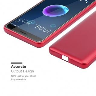 Cadorabo Hülle für HTC Desire 12 in METALLIC ROT - Handyhülle aus flexiblem TPU Silikon - Silikonhülle Schutzhülle Ultra Slim Soft Back Cover Case Bumper - Vorschau 5