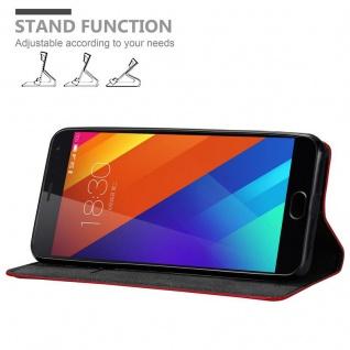 Cadorabo Hülle für MEIZU MX5 in APFEL ROT Handyhülle mit Magnetverschluss, Standfunktion und Kartenfach Case Cover Schutzhülle Etui Tasche Book Klapp Style - Vorschau 3