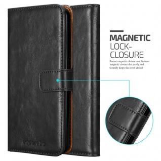 Cadorabo Hülle für HTC Desire 10 Lifestyle / Desire 825 in GRAPHIT SCHWARZ - Handyhülle mit Magnetverschluss, Standfunktion und Kartenfach - Case Cover Schutzhülle Etui Tasche Book Klapp Style - Vorschau 2
