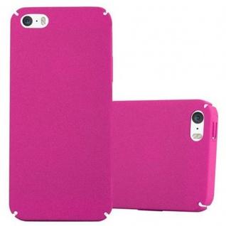 Cadorabo Hülle für Apple iPhone 5 / iPhone 5S / iPhone SE in FROSTY PINK Hardcase Handyhülle aus Plastik gegen Kratzer und Stöße Schutzhülle Bumper Ultra Slim Back Case Hard Cover