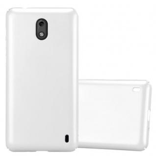 Cadorabo Hülle für Nokia 2 2017 in METALL SILBER - Hardcase Handyhülle aus Plastik gegen Kratzer und Stöße - Schutzhülle Bumper Ultra Slim Back Case Hard Cover