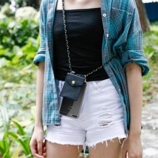 Cadorabo Handy Kette für Huawei P SMART 2018 / Enjoy 7S in CAMOUFLAGE ? Silikon Necklace Umhänge Hülle mit Gold Ringen, Kordel Band Schnur und abnehmbarem Etui ? Schutzhülle - Vorschau 5