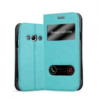 Cadorabo Hülle für Samsung Galaxy XCOVER 3 in MINT TÜRKIS - Handyhülle mit Magnetverschluss, Standfunktion und 2 Sichtfenstern - Case Cover Schutzhülle Etui Tasche Book Klapp Style
