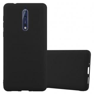 Cadorabo Hülle für Nokia 8 2017 in CANDY SCHWARZ - Handyhülle aus flexiblem TPU Silikon - Silikonhülle Schutzhülle Ultra Slim Soft Back Cover Case Bumper