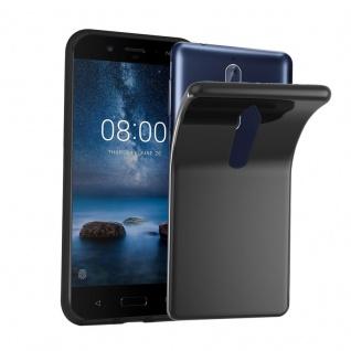 Cadorabo Hülle für Nokia 8 2017 in SCHWARZ - Handyhülle aus flexiblem TPU Silikon - Silikonhülle Schutzhülle Ultra Slim Soft Back Cover Case Bumper
