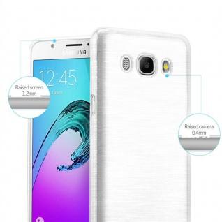 Cadorabo Hülle für Samsung Galaxy J7 2016 in SILBER - Handyhülle aus flexiblem TPU Silikon - Silikonhülle Schutzhülle Ultra Slim Soft Back Cover Case Bumper - Vorschau 2
