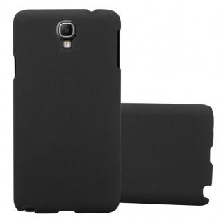 Cadorabo Hülle für Samsung Galaxy NOTE 3 NEO in FROSTY SCHWARZ - Hardcase Handyhülle aus Plastik gegen Kratzer und Stöße - Schutzhülle Bumper Ultra Slim Back Case Hard Cover