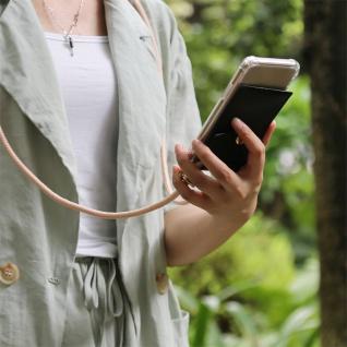 Cadorabo Handy Kette für Nokia 10 in PERLIG ROSÉGOLD Silikon Necklace Umhänge Hülle mit Gold Ringen, Kordel Band Schnur und abnehmbarem Etui Schutzhülle - Vorschau 3