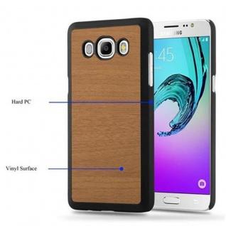 Cadorabo Hülle für Samsung Galaxy J7 2016 in WOODY BRAUN ? Hardcase Handyhülle aus Plastik gegen Kratzer und Stöße ? Schutzhülle Bumper Ultra Slim Back Case Hard Cover - Vorschau 3