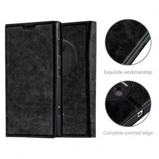 Cadorabo Hülle für Nokia Lumia 1020 in NACHT SCHWARZ - Handyhülle mit Magnetverschluss, Standfunktion und Kartenfach - Case Cover Schutzhülle Etui Tasche Book Klapp Style - Vorschau 2