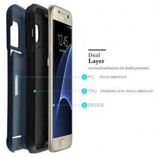 Cadorabo Hülle für Samsung Galaxy S7 - Hülle in ARMOR DUNKEL BLAU ? Handyhülle mit Kartenfach - Hard Case TPU Silikon Schutzhülle für Hybrid Cover im Outdoor Heavy Duty Design - Vorschau 5