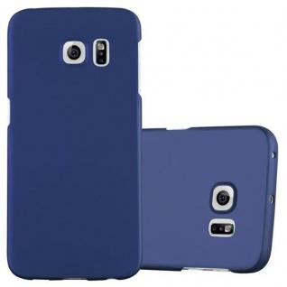 Cadorabo Hülle für Samsung Galaxy S6 EDGE in METALL BLAU Hardcase Handyhülle aus Plastik gegen Kratzer und Stöße Schutzhülle Bumper Ultra Slim Back Case Hard Cover