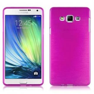 Cadorabo Hülle für Samsung Galaxy A7 2015 in PINK - Handyhülle aus flexiblem TPU Silikon - Silikonhülle Schutzhülle Ultra Slim Soft Back Cover Case Bumper