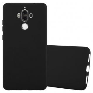 Cadorabo Hülle für Huawei MATE 9 in CANDY SCHWARZ - Handyhülle aus flexiblem TPU Silikon - Silikonhülle Schutzhülle Ultra Slim Soft Back Cover Case Bumper
