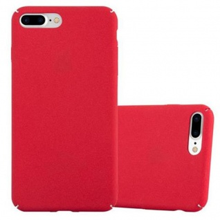 Cadorabo Hülle für Apple iPhone 8 PLUS / iPhone 7 PLUS / iPhone 7S PLUS in FROSTY ROT - Hardcase Handyhülle aus Plastik gegen Kratzer und Stöße - Schutzhülle Bumper Ultra Slim Back Case Hard Cover