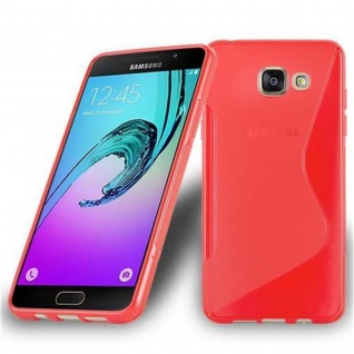 Cadorabo Hülle für Samsung Galaxy A7 2016 in INFERNO ROT ? Handyhülle aus flexiblem TPU Silikon ? Silikonhülle Schutzhülle Ultra Slim Soft Back Cover Case Bumper