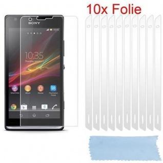 Cadorabo Displayschutzfolien für Sony Xperia SP - Schutzfolien in HIGH CLEAR ? 10 Stück hochtransparenter Schutzfolien gegen Staub, Schmutz und Kratzer