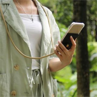 Cadorabo Handy Kette für Honor 30 in GLÄNZEND BRAUN Silikon Necklace Umhänge Hülle mit Gold Ringen, Kordel Band Schnur und abnehmbarem Etui Schutzhülle - Vorschau 3
