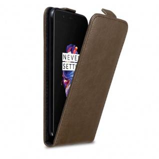 Cadorabo Hülle für OnePlus 5 in KAFFEE BRAUN Handyhülle im Flip Design mit Magnetverschluss Case Cover Schutzhülle Etui Tasche Book Klapp Style
