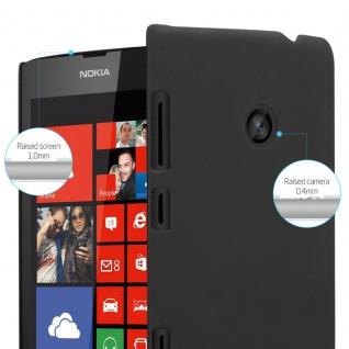 Cadorabo Hülle für Nokia Lumia 520 in FROSTY SCHWARZ - Hardcase Handyhülle aus Plastik gegen Kratzer und Stöße - Schutzhülle Bumper Ultra Slim Back Case Hard Cover - Vorschau 4