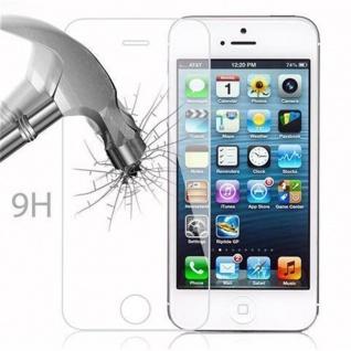 Cadorabo Panzer Folie für Apple iPhone 5 / 5S / SE - Schutzfolie in KRISTALL KLAR - Gehärtetes (Tempered) Display-Schutzglas in 9H Härte mit 3D Touch Kompatibilität - Vorschau 4