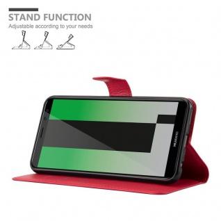 Cadorabo Hülle für Huawei MATE 10 LITE in KARMIN ROT - Handyhülle mit Magnetverschluss, Standfunktion und Kartenfach - Case Cover Schutzhülle Etui Tasche Book Klapp Style - Vorschau 5