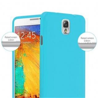 Cadorabo Hülle für Samsung Galaxy NOTE 3 in JELLY HELL BLAU ? Handyhülle aus flexiblem TPU Silikon ? Silikonhülle Schutzhülle Ultra Slim Soft Back Cover Case Bumper - Vorschau 5