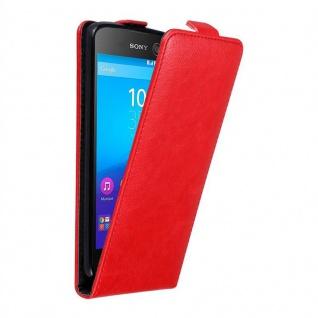 Cadorabo Hülle für Sony Xperia M5 in APFEL ROT - Handyhülle im Flip Design mit unsichtbarem Magnetverschluss - Case Cover Schutzhülle Etui Tasche Book Klapp Style