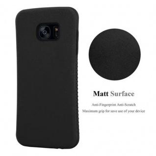 Cadorabo Hülle für Samsung Galaxy S7 EDGE - Hülle in MINERAL SCHWARZ ? Small Waist Handyhülle mit rutschfestem Gummi-Rücken - Hard Case TPU Silikon Schutzhülle - Vorschau 3