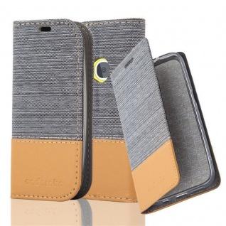 Cadorabo Hülle für Nokia 3310 in HELL GRAU BRAUN - Handyhülle mit Magnetverschluss, Standfunktion und Kartenfach - Case Cover Schutzhülle Etui Tasche Book Klapp Style