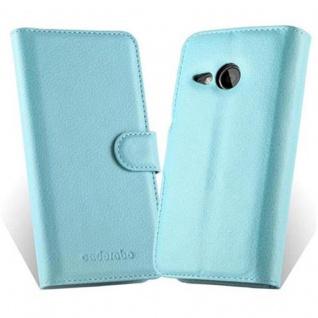 Cadorabo Hülle für HTC ONE M8 MINI in PASTEL BLAU - Handyhülle mit Magnetverschluss, Standfunktion und Kartenfach - Case Cover Schutzhülle Etui Tasche Book Klapp Style - Vorschau 2