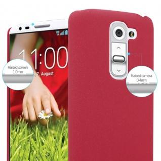 Cadorabo Hülle für LG G2 MINI in FROSTY ROT - Hardcase Handyhülle aus Plastik gegen Kratzer und Stöße - Schutzhülle Bumper Ultra Slim Back Case Hard Cover - Vorschau 4