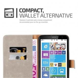 Cadorabo Hülle für Nokia Lumia 1320 in CAPPUCINO BRAUN - Handyhülle mit Magnetverschluss, Standfunktion und Kartenfach - Case Cover Schutzhülle Etui Tasche Book Klapp Style - Vorschau 3