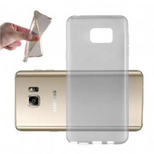 Cadorabo Hülle für Samsung Galaxy NOTE 5 in TRANSPARENT SCHWARZ - Handyhülle aus flexiblem TPU Silikon - Silikonhülle Schutzhülle Ultra Slim Soft Back Cover Case Bumper