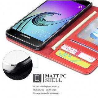 Cadorabo Hülle für Samsung Galaxy A3 2016 in INFERNO ROT ? Handyhülle mit Magnetverschluss und 3 Kartenfächern ? Case Cover Schutzhülle Etui Tasche Book Klapp Style - Vorschau 3