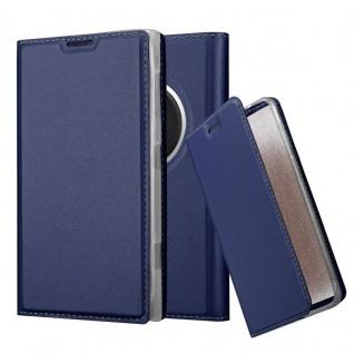 Cadorabo Hülle für Nokia Lumia 1020 in CLASSY DUNKEL BLAU - Handyhülle mit Magnetverschluss, Standfunktion und Kartenfach - Case Cover Schutzhülle Etui Tasche Book Klapp Style
