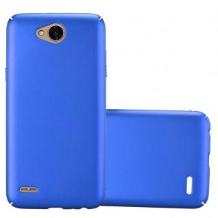Cadorabo Hülle für LG X Power 2 in METALL BLAU - Hardcase Handyhülle aus Plastik gegen Kratzer und Stöße - Schutzhülle Bumper Ultra Slim Back Case Hard Cover
