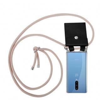Cadorabo Handy Kette für Oneplus 8 in PERLIG ROSÉGOLD Silikon Necklace Umhänge Hülle mit Silber Ringen, Kordel Band Schnur und abnehmbarem Etui Schutzhülle