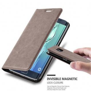 Cadorabo Hülle für Samsung Galaxy S6 EDGE in KAFFEE BRAUN - Handyhülle mit Magnetverschluss, Standfunktion und Kartenfach - Case Cover Schutzhülle Etui Tasche Book Klapp Style